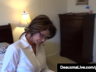 Texas materfamilias Deauxma As A Census Taker drills Brooke Tyler! unorthodox sex